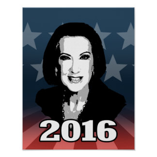 CARLY FIORINA 2016 CANDIDATE POSTER