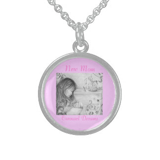 Carousel Dreams Round Sterling Silver Necklace