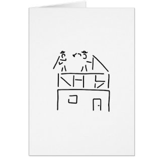 carpenter carpenter timber construction greeting card