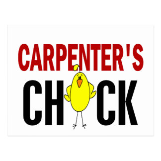 Carpenter's Chick Postcard
