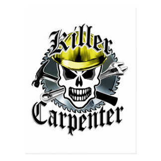 Carpenter Skull: Killer Carpenter Postcard