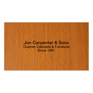 Carpenter-Woodworking Pack Of Standard Business Cards