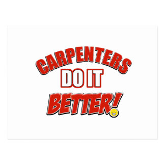Carpenters do it better postcard
