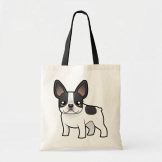 Cartoon French Bulldog Budget Tote Bag