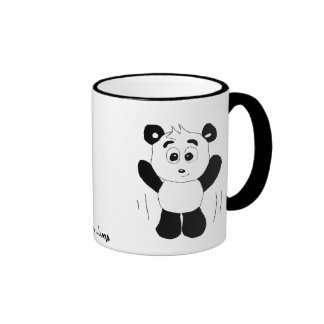Cartoon Hip Hop Panda Bear Ringer Mug
