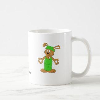Cartoon Hip Hop Rabbit With Bing Bing Basic White Mug