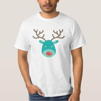 Cartoon Illustration Rudolf  Reindeer T-shirt