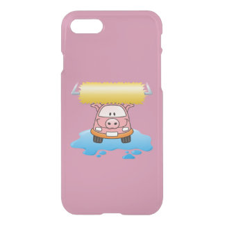 Carwash pig cartoon iPhone 7 case
