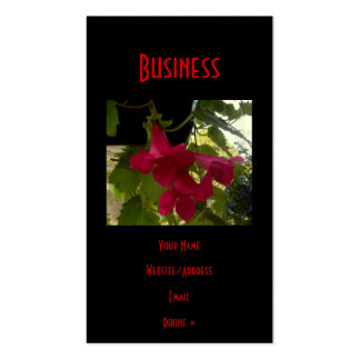 Cascading Red Lofus Blooms Pack Of Standard Business Cards