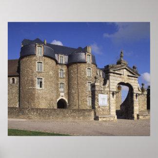 Castle and Museum, Boulogne, Pas-de-Calais, Poster