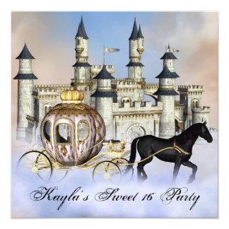 Castle Clouds Princess Fairytale Sweet 16 Party 13 Cm X 13 Cm Square Invitation Card