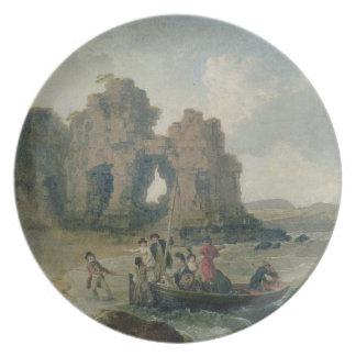 Castle Rock (Flatholm Island), Bristol Channel, 17 Plate