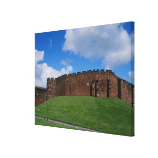 Castle showing half moon tower, Chester, Stretched Canvas Print