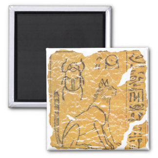 cat and scarab square magnet
