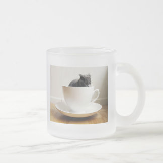cat-in-a-mug frosted glass mug