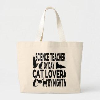 Cat Lover Science Teacher Jumbo Tote Bag