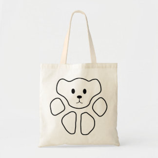 Cat Paw Teddy Bear 1 Budget Tote Bag