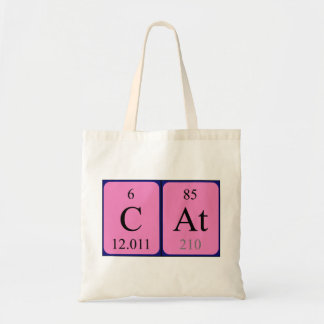 Cat periodic table name tote bag