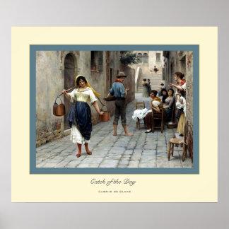 Catch of the Day ~ Eugene de Blass Poster