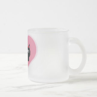 Cats in love frosted glass mug