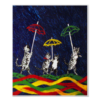 Cats in the Rain Poster