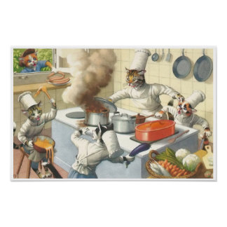 CATWALKS: Kitchen Catastrophe Poster Art Semigloss