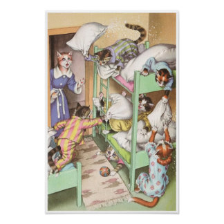 CATWALKS: Pillow Fighting - Poster Art - Semigloss