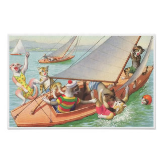 CATWALKS: Silly Sailing   Poster Art - Semigloss