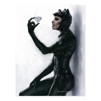 Catwoman Illustration Postcard