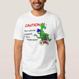 Caution: Flamethrower Tee Shirt