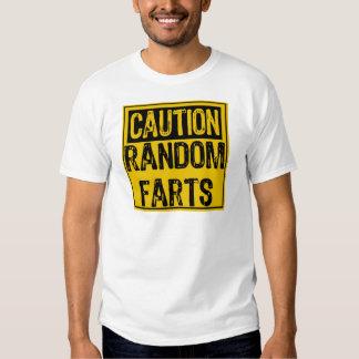 Caution Sign- Random Farts Yellow/Black T-shirt