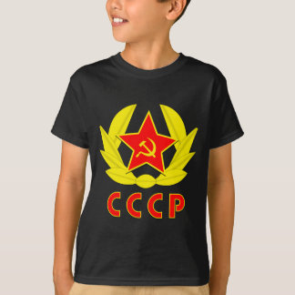 cccp ussr hammer and sickle emblem tee shirts