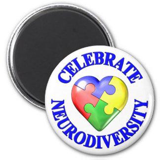 Celebrate Neurodiversity 6 Cm Round Magnet