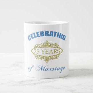 Celebrating 25 Years Of Marriage Jumbo Mug