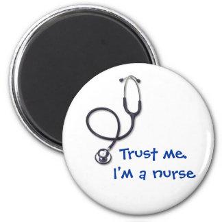 Celebrating nursing and medicine 6 cm round magnet