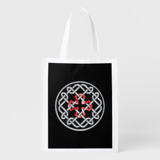Celtic Knot Red Metallic Reusable Bag