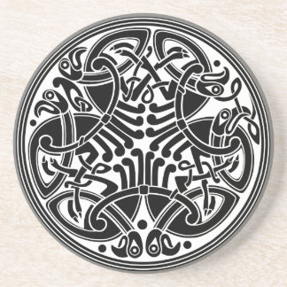 Celtic Style Circle Design with Birds Coasters