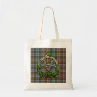 Celtic Trinity Knot And Clan Anderson Tartan Budget Tote Bag