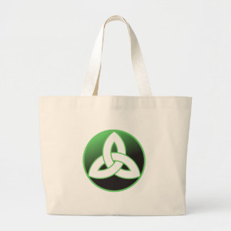 Celtic Trinity Knot Up Jumbo Tote Bag