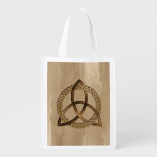Celtic Triquetra Trinity Knot Reusable Grocery Bag