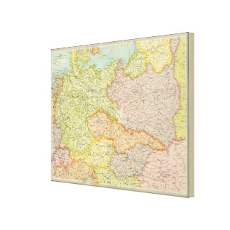 Central European states political Stretched Canvas Print