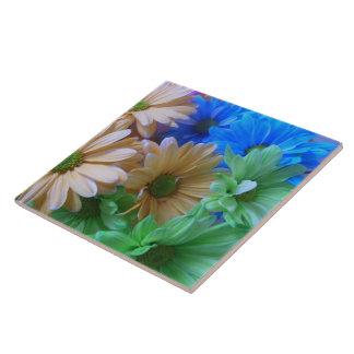 Ceramic Tile - Multicolored Daisies 2A