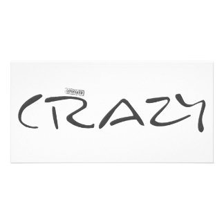 Certified Crazy Official Stamp Capital Letters Picture Card