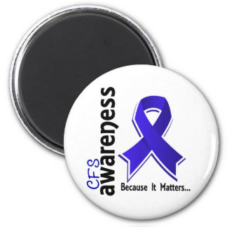CFS Awareness 5 Chronic Fatigue Syndrome 6 Cm Round Magnet
