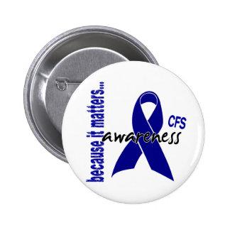 CFS Chronic Fatigue Syndrome Awareness 6 Cm Round Badge