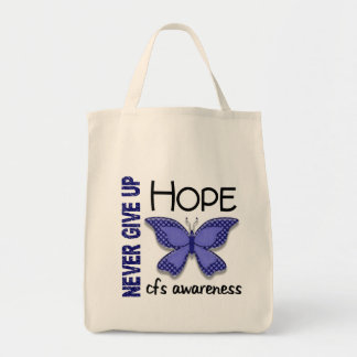 CFS Chronic Fatigue Syndrome Butterfly Grocery Tote Bag