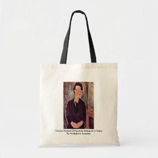 Chaiim Portrait Of Soutine Sitting At A Table Budget Tote Bag