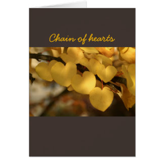 chain of hearts greeting card