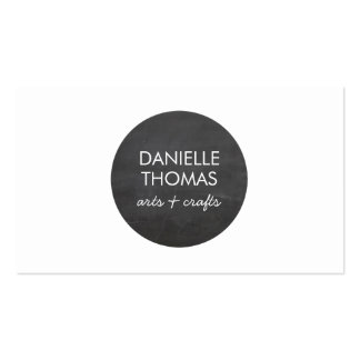 Chalkboard Circle Logo for Artists, Crafters Pack Of Standard Business Cards