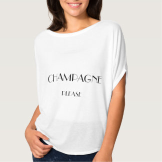 Champagne Please Short Sleeve Top Tees